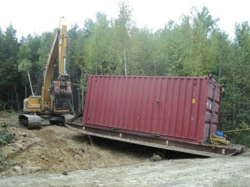 03 - Pulling of drill rig to drill site
